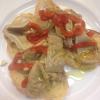 Crostini di lampredotto e peperoni alla brace