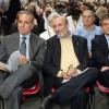 Petriniin 2004 with the then president of Regione Piemonte,Enzo Ghigo, and the then mayor of TorinoSergioChiamparino