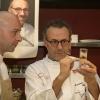 La preparazione della cena di gala al ristorante Manzo all?interno di Eataly: Niko Romito e Massimo Bottura