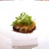 Cozza di Sistiana, bottarga (in gel e grattugiata), zenzero candito, prezzemolo, coriandolo e nigella: buonissimo