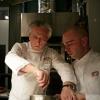 Davide Scabin prepara il suo 'Filetto di Fassona impanato alla torinese con cipolline glassate al Barolo e salsa inglese salata'