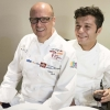 Heinz Beck and his sous chef Giovanni Solofra