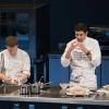 A destra Rodrigo Oliveira, cuoco del Mocotò di San Paolo in Brasile, altro protagonista di Identità Milano 2012