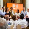 """Spazio agli autori e ai curatori di """"100 chef x 10 anni"""": Giulia Corradetti, Annalisa Cavaleri, Carlo Passera. Con loro, Claudio Ceroni e Paolo Marchi"""