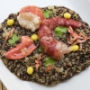 Quinoa risotto with crustaceans on a parsley coulis by Cristina Bowerman