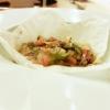 Mlinci: pasta fresca, leggermente abbrustolita, condita con i prodotti dell'orto e dadolata d'oca