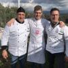 Luca Abbruzzino, chef del ristorante Abbruzzino di Catanzaro, tra Enzo e Renato Ioppolo della Macelleria Fratelli Ioppolodi San Giorgio Morgete (Reggio Calabria), telefono +39.0966.935101