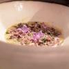 Cereali come un risotto: Crema di zucca, semi di girasole tostati e fiori di girasole