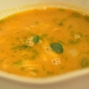 Zuppa di granchi nostrani con patata al limone