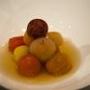 I pomodori disidratati di Josean Alija, cuoco del Nerua, ristorante che è parte del Museo Guggenheim di Bilbao