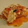 Broeto de pesse con polenta, ricotta e  pancetta