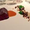 Il Filetto di cervo con ribbla di patate, mirtilli selvatici e funghi di Norbert Niederkofler, chef del ristorante St. Hubertus dell'hotel Rosa Alpina di San Cassiano (Bolzano)