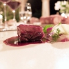 Wild boar glazed in a sauce of red wine and ginger, cabbage cream, sorrel and linden