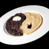 Mario Gaglardi: Ying e Yang riso e fagioli Yin e Yang, concetti alti, il nero (yin – e non ying) e il bianco (Yang), la notte e il giorno, il buio e la luce fino a questo piatto di riso nero e fagioli, anche di tofu e di nocciole. Insomma…