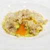 """L'Uovo in raviolo """"San Domenico"""" con burro di malga, Grana Padano Riserva e tartufo bianco di Massimiliano Mascia"""