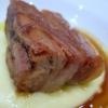 Lo Stracotto de La Granda al cucchiaio su passata di patate di montagna e olio extra vergine d'oliva cultivar Coratina, secondo di carne di Ugo Alciati