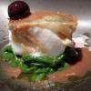 Baccalà morro, cotto dolcemente con olive dolci e pomodoro galatino