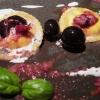 Ravioli di farina di kamut, ripieni con burrata andriese e pesto di olive leccine
