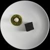 Vantablack Cube, lingua soppressata e tamarindo Alberto Lazzoni – chef de partie al ristorante Lux Lucis dell'Hotel Principe a Forte dei Marmi (Lucca)