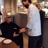 Giorgio Armani è stato un ospite a sorpresa per il menu di Carlo Cracco