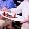 BARI. Felice Sgarra ha cucinato unaCrema di ceci neri della Murgia con gambero rosso di Gallipoli e lampone