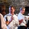 Chicco CereaePaolo Rota,Da Vittorio(Brusaporto, Bergamo):i padroni di casa preparano uno dei piatti protagonisti della serata di domenica: Risotto con lo Strachitunt