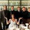 Maria Grazia Cucinotta con la squadra di sala di Identità Expo S.Pellegrino