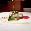 Bigoli, scallops and calamari, amatriciana sauce