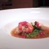 Impepata di mare: gallinella,gambero rosso, calamaretti, molluschi e pepe