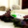 Granita di limone, uova di sperlano aromatizzate al wasabi