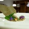 Il Fiore mieloso (sulla base di una tisana: gelata, candita e biscottata). Per il gelato lo chef utilizza il gambo della stella alpina, che coltiva appositamente (è proibito coglierla in natura)