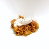 Dal salato al dolce, ma siamo ancora a metà: Torta di fagioli ambrati con panna montata ai porcini e polvere di salvia