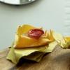 Buonissima la Carota fritta, spuma di ricotta forte, pomodoro demi-sec