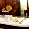 Oliva all'ascolana con maionese al wasabi e Gyoza alla pasta di salame con salsa temaki (favoloso)