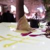 Anatra selvatica, cavolo cappuccio viola in gel, croccante, cotto e in salsa, mela
