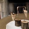 Appetizer: Coni ripieni di gelatina diJamón ibérico de bellota de Jabugo