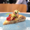 Tartare di Fassona, foie gras aromatizzato al pepe nero e champagne, crema di mela