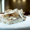 Toasted bread, butter, Jerusalem artichoke, preserved garlic and white truffle from Alba