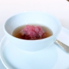 Raw meat, broth with white truffle from Alba