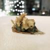 Lumache, royale di carciofi e teriyaki, altro piatto convincente, con bel gioco di consistenze e nota fumé del carciofo in versione croccante