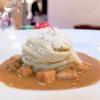 Gli spaghettoni Fabbri cacio e pepe su guazzetto di scorfano dell'Adriatico: equilibrio magistrale, un piatto della memoria
