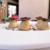 Arancini di ricotta di capra farciti di foie gras ai tartufi neri e salsa di foie gras