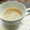 Cappuccino di pane di campagna.Il pane è quello prodotto maison da Matteo Moro, sous chef