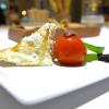 Baccalà («Un pesce da silano»), pellicola di peperone crusco, acciuga, oliva e pelle fritta