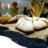 Il pane del Biafora,una delle migliori proposte del 2016, per noi:la tradizionale pitta calabrese, un pane di castagne, che era quello dei poveri, duro, fatto con le castagne tostate, un po' di farina e il latte, e poi quello più classico, ma sempre da lievito madre, 48 ore di maturazione e 10 di lievitazione