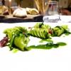 Fusilli, aglio, olio, cicoria e lepre marinata nello zenzero: grandissimo piatto