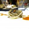 Stroncatura (pasta tradizionale calabrese) con cipolla, la sua cenere, sardella, salsa di plancton con peperoncino ed extravergine