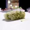 Altro bel piatto, semplice ed equilibrato: Frittatina di aglio orsino con asparago di Fossalon e alghe essiccate