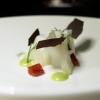 Seppia, finocchio, aglio nero, con maionese d'erba cipollina
