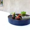 Salsiccia di Bra nel cavolo romano, Lardo, cetriolo e semi di sesamo, Chips di mais, salsa di pomodoro e avocado
